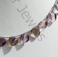 aaa Ametrine Gemstone Twisted Heart Briolette