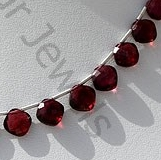 aaa Rhodolite Garnet Cushion Shape Beads