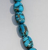 16 inch strand Turquoise Gemstone Faceted Nuggets