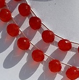 8 inch strand Carnelian Gemstone  Onion Shape