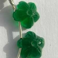 aaa Green Onyx  Gemstone Flower Beads