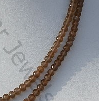 aaa Coffee Moonstone Faceted Rondelles