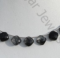 wholesale Black Rutilated Quartz Cushion Cut