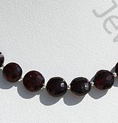 wholesale Garnet Gemstone Faceted Coin