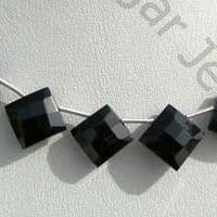 aaa Black Spinel  Puffed Diamond Cut