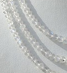 16 inch strand Rainbow Moonstone Faceted Rondelles