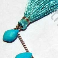 8 inch strand Turquoise Gemstone Dolphin Beads