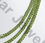 aaa Peridot Gemstone Beads  Faceted Roundels