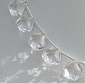8 inch strand Crystal Gemstone Polygon Beads