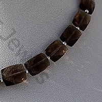 wholesale Smoky Quartz Gemstone  Faceted Rectangles