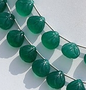 Green Onyx Carved Beads