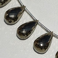 wholesale Pyrite Beads Tear Drops Briolette