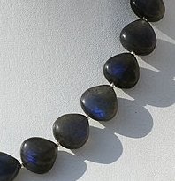 aaa Labradorite Blue Power Heart Plain Beads
