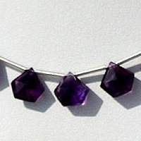 wholesale Amethyst Gemstone Polygon Diamond Cut