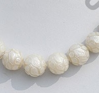 wholesale Pearl Carved Round
