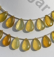 wholesale Yellow Opal Flat Pear Briolette