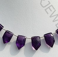 wholesale Amethyst Gemstone pentagon beads