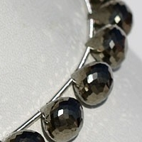aaa Pyrite Beads Onion Shape