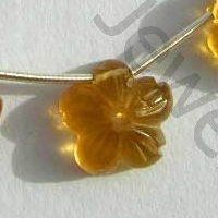 wholesale Beer Quartz  Gemstone Flower Beads