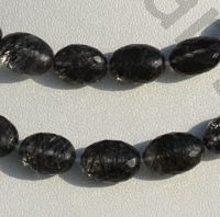 wholesale Black Rutilated Quartz  Oval Faceted