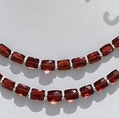 wholesale Rubellite Garnet  Faceted Rectangles