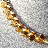 wholesale Citrine Gemstone  Tear Drops Briolette