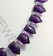 aaa Amethyst Gemstone pentagon beads