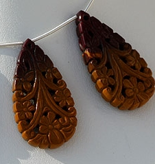 aaa Mookaite Jasper Carved Beads
