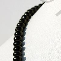 16 inch strand Black Spinel Plain Beads