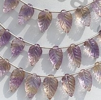 wholesale Ametrine Gemstone Carved Leaf