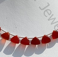 wholesale Carnelian Gemstone Trilliant Cut