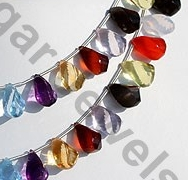 aaa Semi Precious Gemstone Twisted Tear Drop