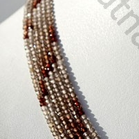 16 inch strand Brown Zircon Gemstone Faceted Rounds