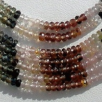 16 inch strand Multi Sapphire Gemstone  Faceted Rondelles