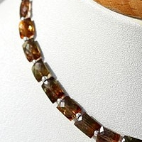8 inch strand Andalusite Gemstone  Faceted Rectangles