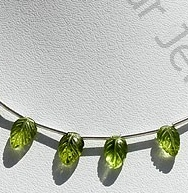 wholesale Peridot Gemstone Carved Leaf