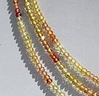 16 inch strand Songea Sapphire  Faceted Rondelles