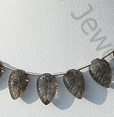 wholesale Black Rutilated Quartz Carved Leaf