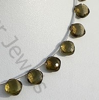 aaa Olive Quartz Puffed Diamond Cut