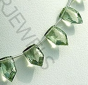 aaa Green Amethyst Gemstone Pentagon Beads