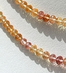 16 inch strand Imperial Topaz  Faceted Roundels
