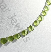 aaa Peridot Gemstone Twisted heart Briolette.