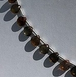 8 inch strand Andalusite Gemstone  Heart Briolette