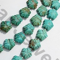aaa Turquoise Gemstone Flower Beads