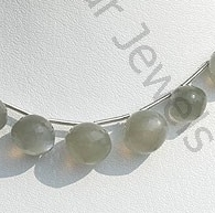 wholesale Grey Moonstone Onion Shape Beads