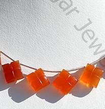 wholesale Carnelian Gemstone Clove Beads