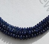 wholesale Sapphire Gemstone  Faceted Rondelles