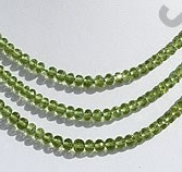 wholesale Peridot Gemstone Beads  Faceted Roundels