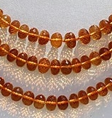 wholesale Citrine Gemstone  Faceted Rondelles