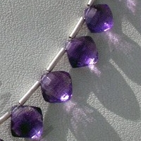 wholesale Amethyst Gemstone Puffed Diamond Cut